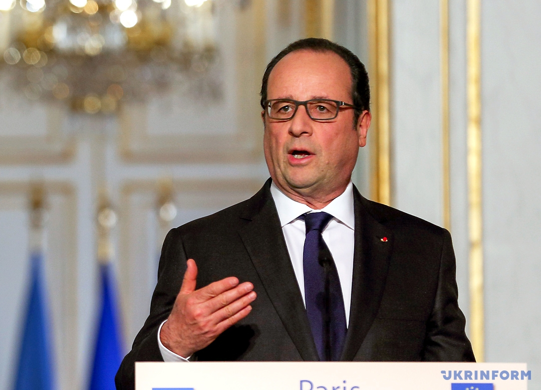 На фото: Франсуа Олланд - президент Франції