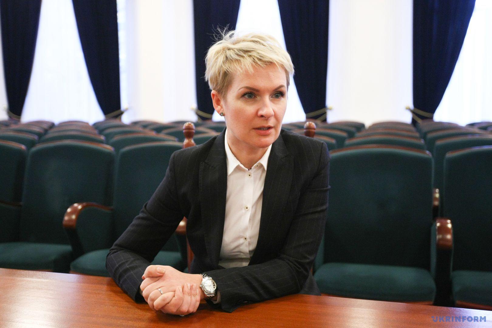 Глава департаменту з питань люстрації Міністерства юстиції України Тетяна Козаченко