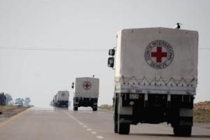 Красный Крест отправил на оккупированный Донбасс 16 грузовиков с гумпомощью