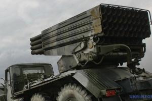 ОБСЄ виявила 22 невідведені «Гради» на окупованій Луганщині