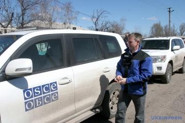 Бойовики обстріляли дрон ОБСЄ