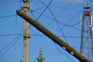 Eighty-eight towns and villages in seven regions of Ukraine left without electricity due to bad weather