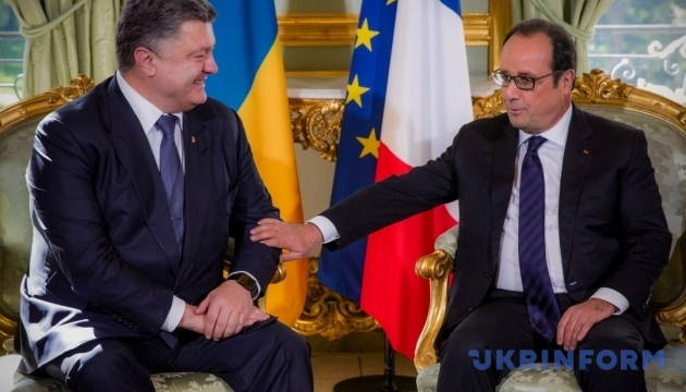 Возвращение Украине полного контроля над границей произойдет после выборов на Донбассе в 2016 году - Олланд