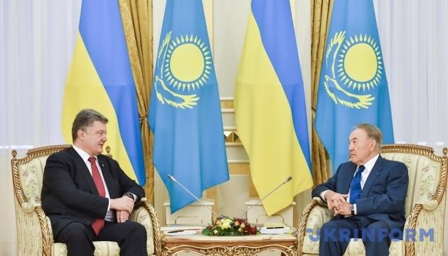 Poroshenko: Kazakhstan is 'window to Asia' for Ukraine, while Ukraine is 'window to Europe' for Kazakhstan