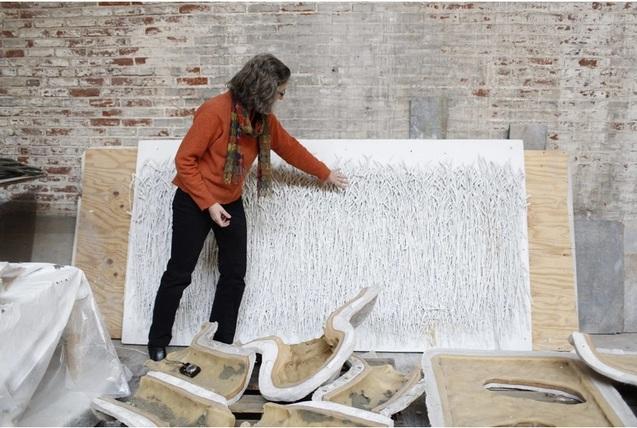 Архітектор Лариса Курилас працює над проектом. Фото: The Washington Post