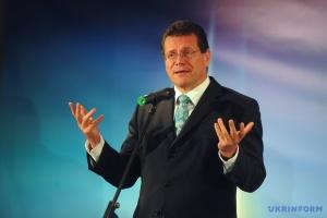 El vicepresidente de la Comisión Europea en Kyiv discute el tránsito del gas ruso