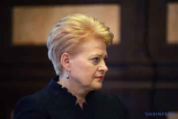 Grybauskaitė llegará a la ceremonia de investidura de Zelensky