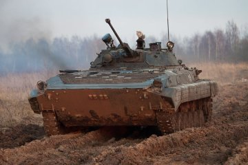 Ukrainian servicemen destroy enemy's IFV