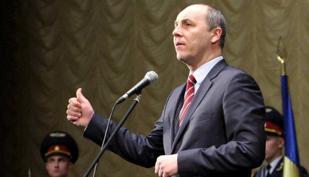 Parubij versichert, dass die Koalition immer noch bestehe