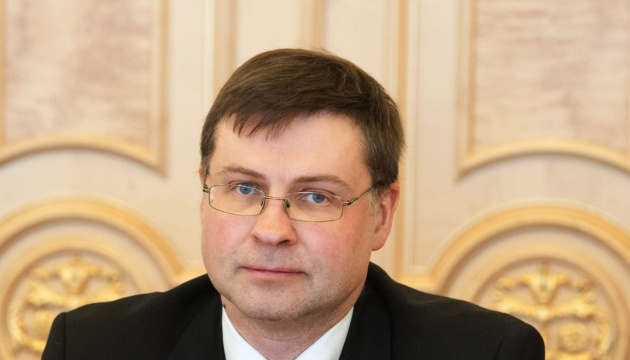 Dombrovskis names conditions for Kyiv to get third tranche of EU macro-financial assistance