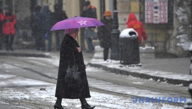С понедельника в Украине - мокрый снег и гололедица