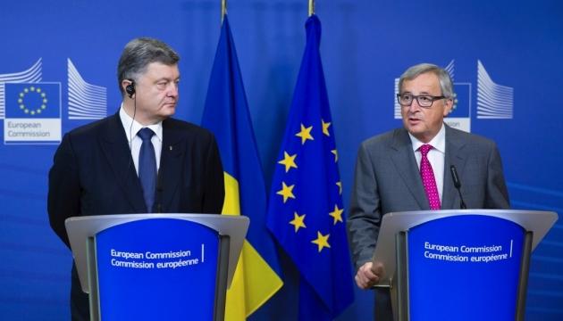 Порошенко обсудил с Юнкером ускорение финпомощи