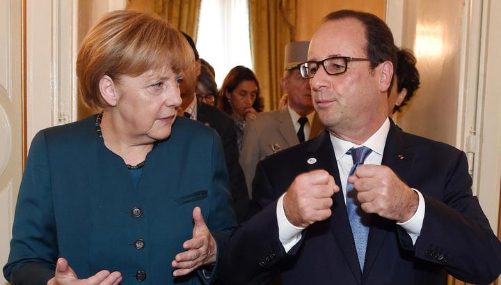 Президент Франції Франсуа Олланд і канцлер ФРН Ангела Меркель. Фото: vesti.ru