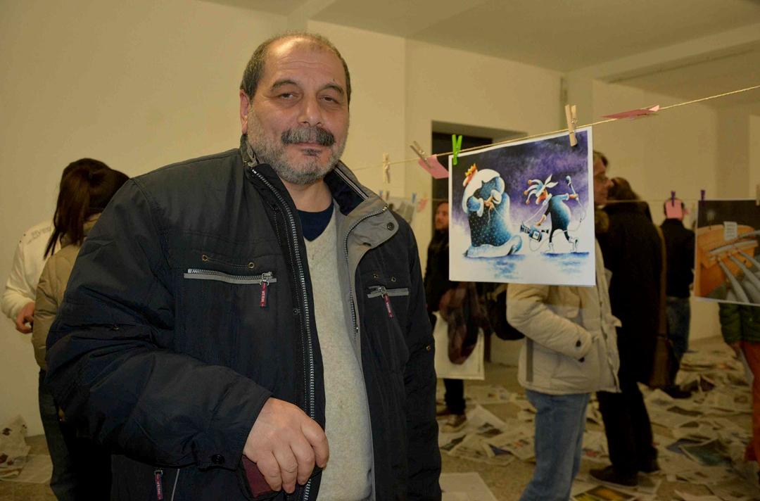 Карикатурист Константин Казанцев, председатель Ассоциации карикатуристов Украины