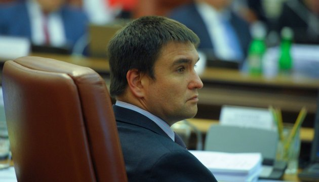 Minsk agreements do not work as Russia wants to seize entire Ukraine – Klimkin