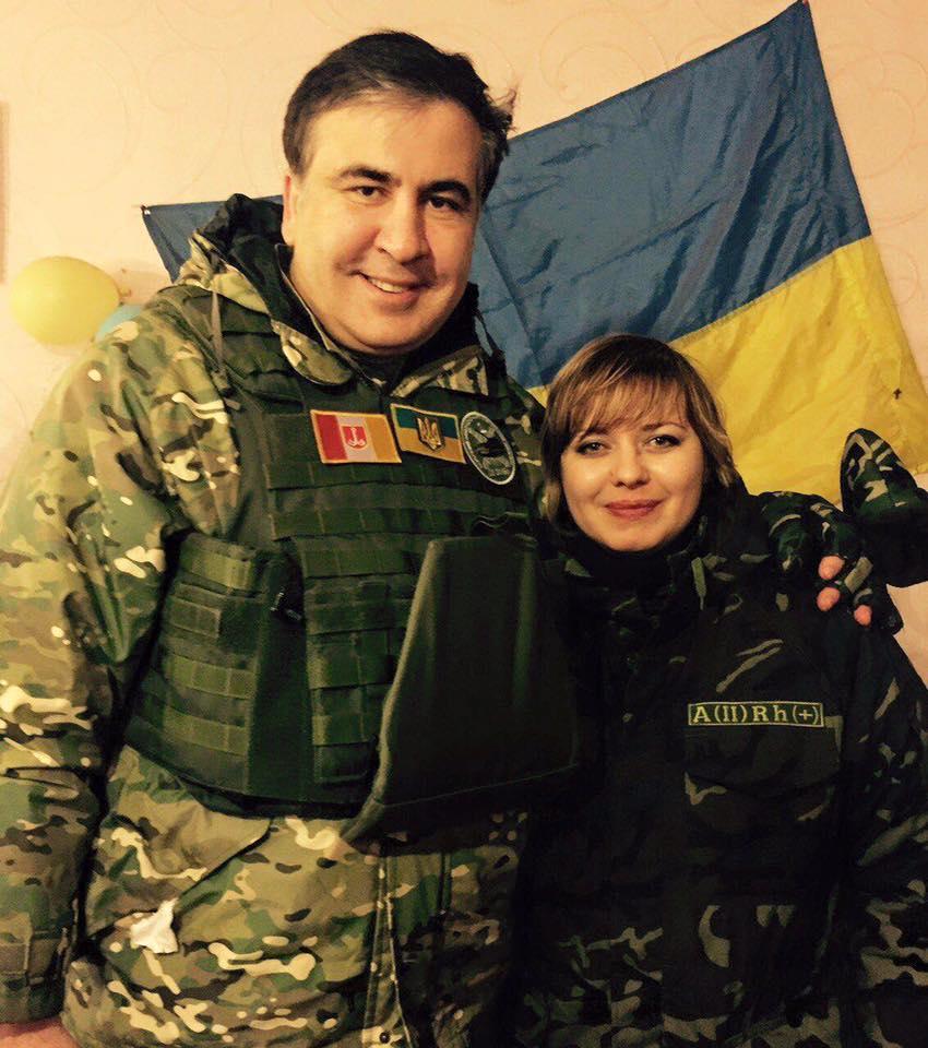 Саакашвили с офицером фото: Fb
