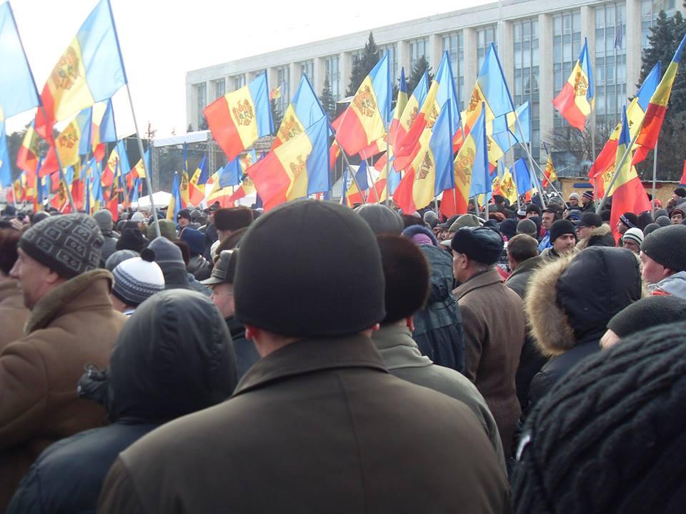 Антиправительственный митинг в Кишиневе