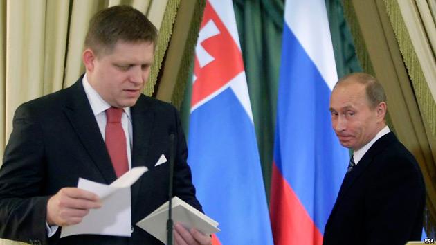 Роберт Фицо и Владимир Путин / Фото: EPA
