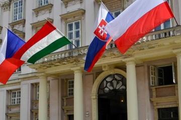 Treffen der Visegrad-Gruppe in Bratislava, Merkel nimmt teil