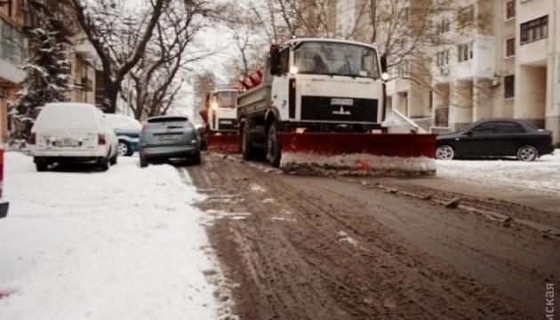В Одесі - потужний снігопад