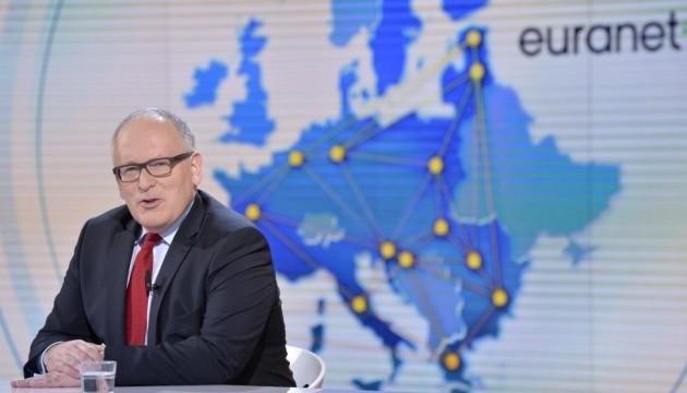 Тиммерманс будет баллотироваться в президенты Еврокомиссии