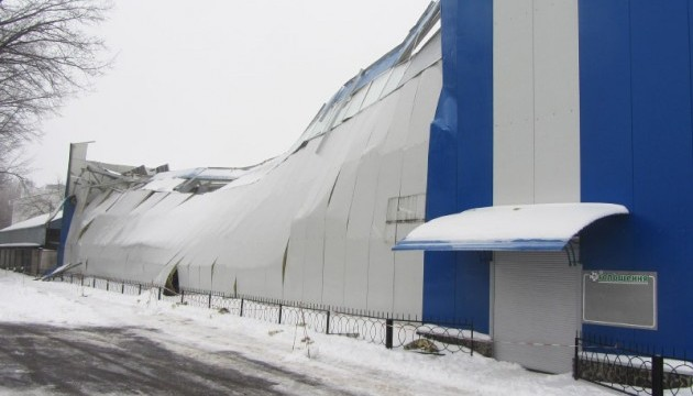 У Полтаві під вагою снігу впав дах спорткомплексу