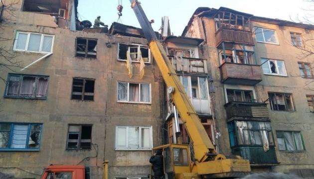 В Українську із пошкодженого вибухом будинку відселили 11 осіб