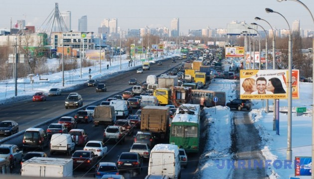 У Києві через ожеледицю - 7-бальні затори