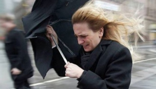 Украинцев предупредили о штормовом ветре