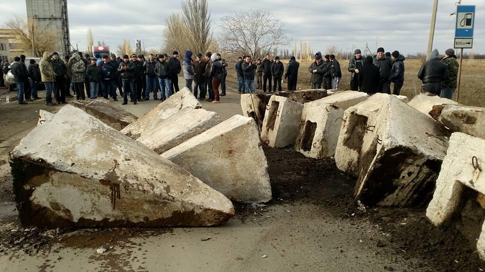 блокирование трассы на Днепропетровск