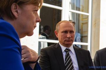 Merkel omówiła z Putinem sytuację w Donbasie i Porozumienia Mińskie