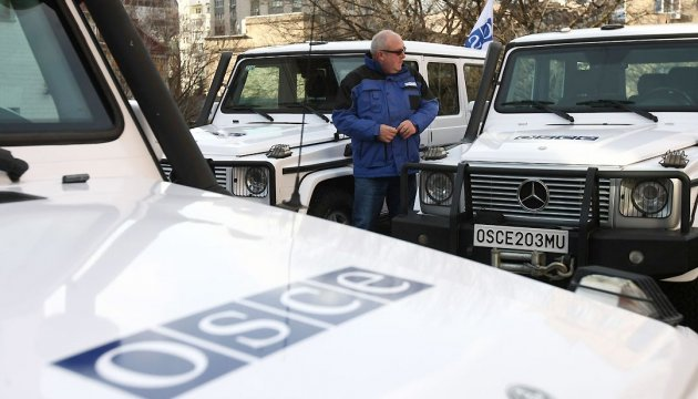 OSCE SMM forward patrol base suspends work in Stanytsia Luhanska for security reasons
