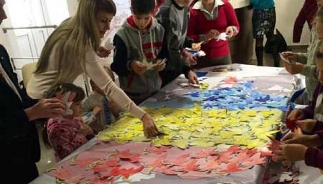 У Словаччині українські діти презентували карту миру України