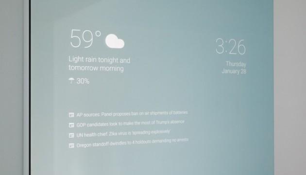Співробітник Google створив «розумне» дзеркало для ванної