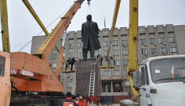 Demontage der Lenin-Statue in Ismajil dauerte fünf Stunden