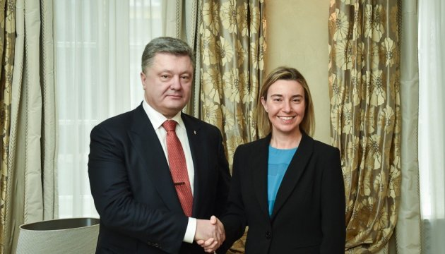 Poroshenko meets with Mogherini in New York