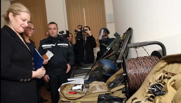 U.S. European Command transfers modern equipment to Ukrainian explosives technicians