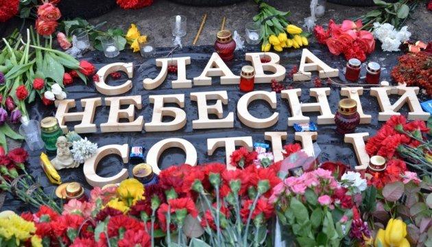 Russische Aktivisten gedenken in Sankt Petersburg Maidan-Opfer