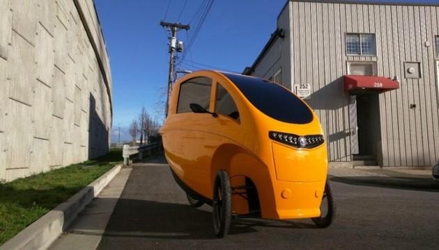 В Ванкувере обустроили точки аренды гибридных «велосипедов/автомобилей» Veemo.