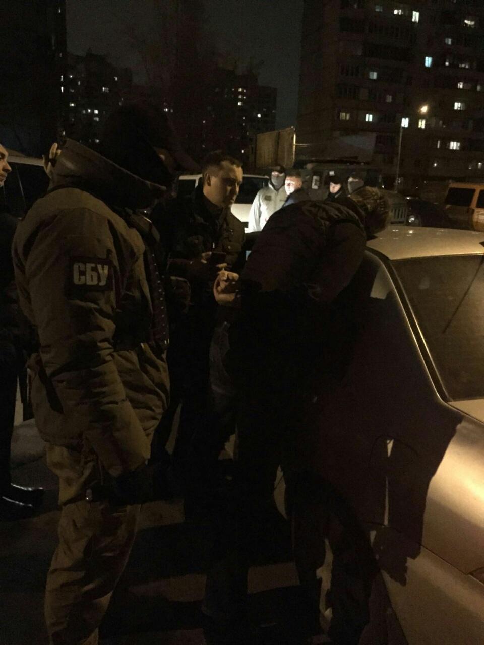 задержание подполковника Нацполиции фото: Прокуратура Київської області