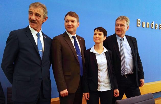 Фрауке Петри и сопредседатели партии