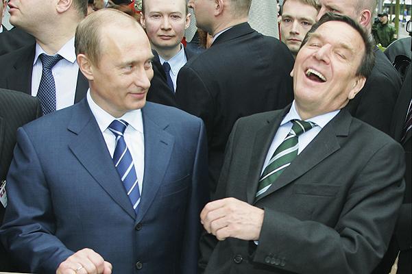 Путин, Шредер