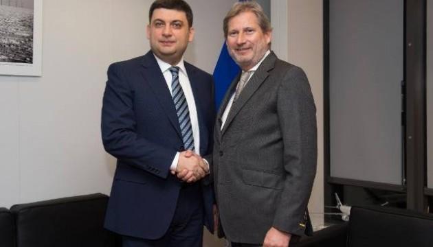 Гройсман і Хан обговорять квоти на українську продукцію в ЄС