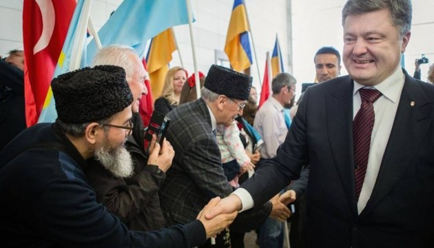 Порошенко в Туреччині зустрівся з українцями та кримськими татарами