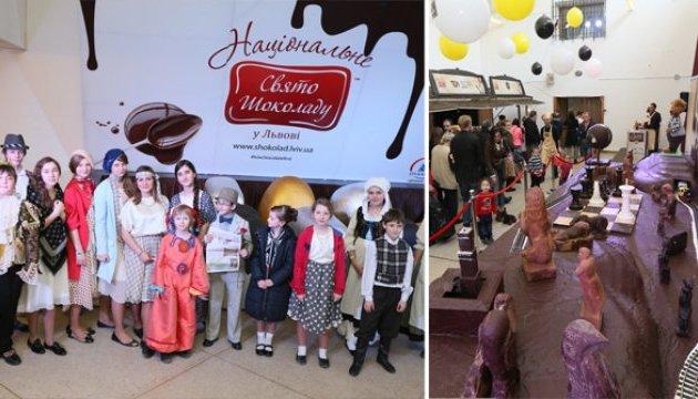 Свято Шоколаду у Львові: 50 кондитерських фірм і 6 тонн шоколаду на 20 тисяч ласунів