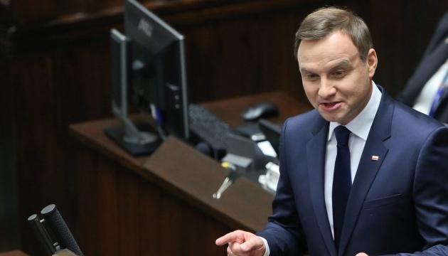 Дуда: НАТО должно показать России силу