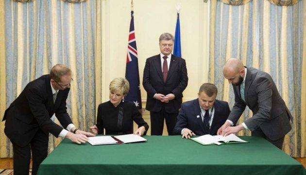 Україна й Австралія підписали