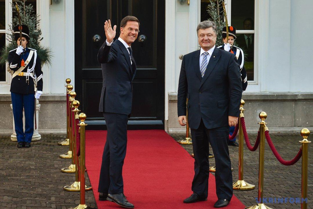 Марк Рютте і Петро Порошенко