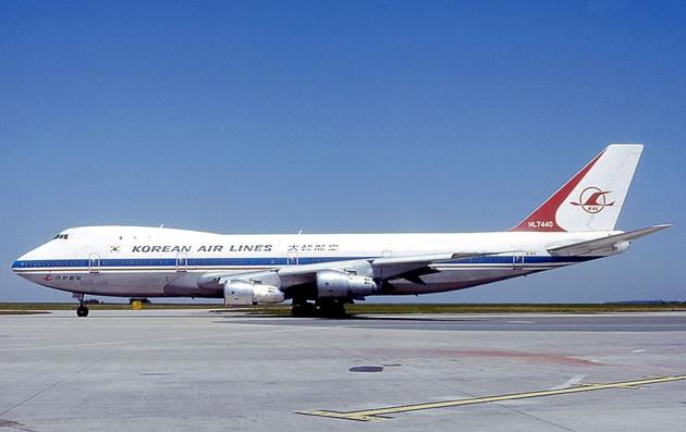 Боинг 747-230В южнокорейской авиакомпании «Korean Air Lines»