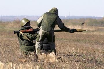 Des mercenaires ont tiré des lance-grenades sur le village de Zhovte
